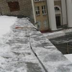 Уборка крыши от снега