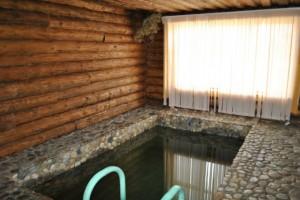 Проект деревянной бани с бассейном