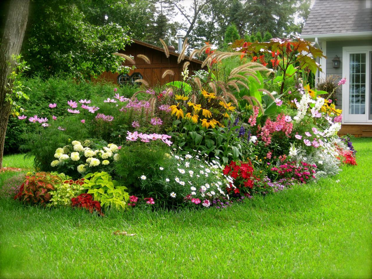 Цветники сад своими руками