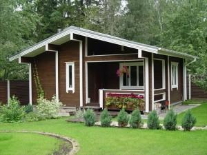 Современный дом для дачного отдыха