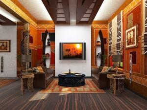 Этнический дизайн интерьера квартир