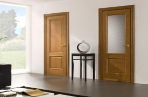 Шпонированные двери со стеклом для офиса