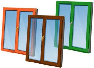 Ламинированные цветные пластиковые окна