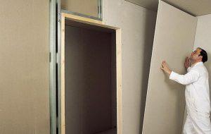 Выравнивание стены гипсокартоном клеевым методом