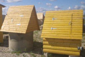 Домик — простая защита для колодца